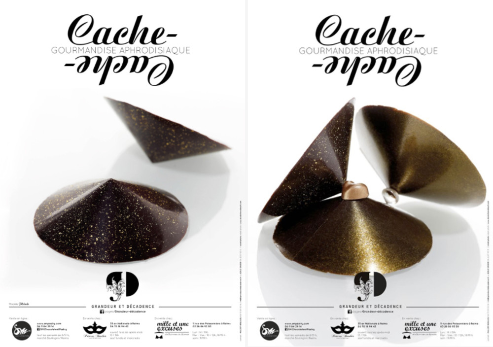 Parutions Cache Cache, Gourmandise Aphrodisiaque, SM CHOCALATE & PASTRY, Matthieu SIEGRIST